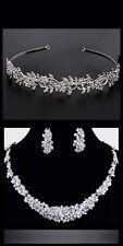 Wedding Jewellery Bridal Necklace Earring Tiara Set
