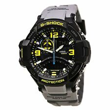 USED Casio G-Shock GA1000-8A G-Aviation Men Sports Watch GA-1000-8A Black/Yellow