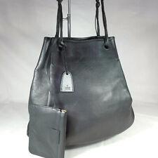 Authentic Vintage Gucci Black Leather Medium Bucket Hobo Shoulder Handbag VGC