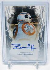 2017 Topps Star Wars Masterwork Brian Herring Auto Bb-8 Autograph