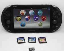 Sony PlayStation Vita (PS Vita)  Konsole - Schwarz (PCH-2016) mit Spielen