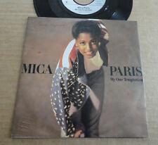 """DISQUE 45T DE MICA PARIS  """" MY ONE TEMPTATION """""""