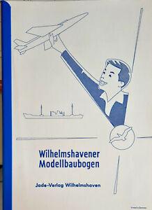 KATALOGE WILHELMSHAVENER MODELLBAUBOGEN MIT PREISLISTEN CA. 1970 JADE VERLAG