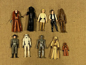 Star Wars Vintage 1977 10 of the First 12 Original Kenner Action Figures