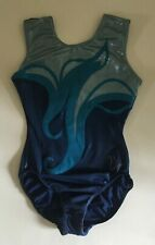 "USED Milano Gymnastics leotard, Size 32"", Colour : Blue(s)"