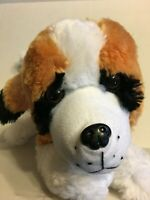 "Peek A Boo Toys White Brown And Black Dog 18"" Plush Stuffed Animal"