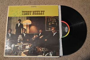 Teddy Neeley Rock Autograph Signed Record lp VG+