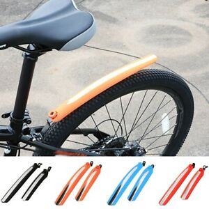Bike MTB Front +Rear Fender Mudguard Plastic Mountain Bicycle Road Water-proof