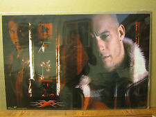 Vintage 2002 Movie poster Vin Diesel  XXX triple X action 878