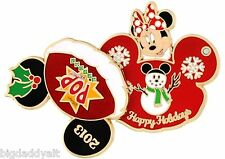 New Disney Minnie Mouse Pop Century Resort Christmas Pin Happy Holidays 2013