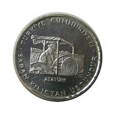 elf Turkey 150 Lira 1978 FAO Silver Proof  Ataturk Tractor  2,500 minted