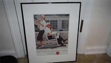 COCA COLA VNTG. FRAMED AD OUT OF ART GALLERY ( LOT3) 1968 FRAMED MATTED