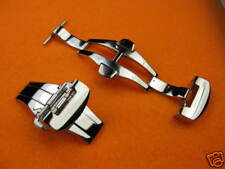 New 22mm Polish DEPLOYMENT CLASP Double Folding BUCKLE for PANERAI 24 mm STRAP P
