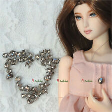Doll Bjd 1/6 Dollfie Dress Making DIY Crafts Metal Mini Cone Rivet 4mm Silver