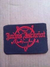 JUDAS ISCARIOT,SEW ON RED EMBROIDERED PATCHE