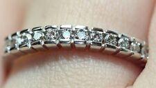 NEW 1/3 CTW 12 Round Natural Diamond 14K White Gold Wedding Band/Ring SI/G Sz 7