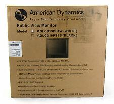 "NEW American Dynamics ADLCD19PS1W 19"" Public View Monitor PVM 16GB Camera White"