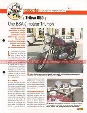 TRIBSA 650 BSA TRIUMPH Joe Bar Team Fiche Moto #007497