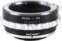 K&F Concept PK/DA-FX Adapter for Pentax K PK/DA Lens to Fujifilm Fuji FX Camera