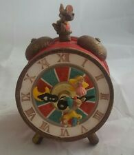 Alarm Clock Music Box With Mice Moving Musical Ceramic