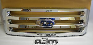 2007-2014 Ford Expedition Front Chrome Grille w/o Emblem new OEM 7L1Z-8200-BA