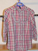 Chemise / blouse carreaux rose et gris « divided by H&M » taille 36/38