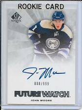 11-12 SP Authentic John Moore Future Watch Rookie Auto # 250