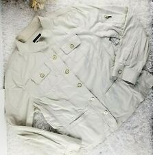 Jones New York beige stretch lightweight jacket SIZE XL button front casual (M)