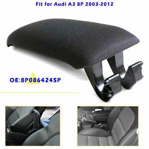 For Audi A3 8P 2003-2012 Leather Armrest Center Console Lid 8P0864245P Black