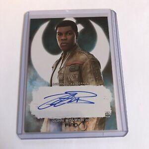 Star Wars Last Jedi Series 2 John Boyega As Finn Autograph Card A-JB