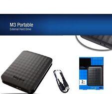 """HARD DISK ESTERNO 2,5"""" 500GB-1TB-2TB-4TB MAXTOR USB 3.0 SLIM NERO + CAVO USB"""