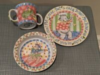 Pat A Cake Kelly Rightsell Baby Child Cup Bowl Plate Set Essex Collection