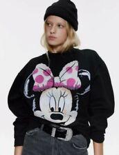 Zara Disney Black Minnie Mouse Crew Neck Jumper Sweater Size L Large 10 12 14 16