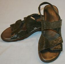 Munro 9M 9 Slingback Womens Slip On Sandals Sparkle Olive Green Sparkly