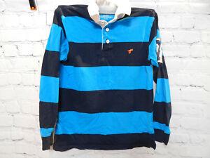 Boys Blue Striped Wrangler Jeans Long Sleeve Shirt size L (10/12)