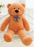 32''GIANT 80CM BIG CUTE PLUSH TEDDY BEAR HUGE light brown SOFT  COTTON TOY GIFT