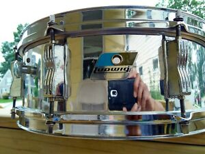 """Ludwig L-600 S/L Series 5x14"""" Chrome Over Wood Snare 1980s"""