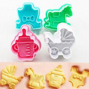 4pcs Baby Shower Cookie Cutters Sugarcraft Cake Fondant Decorating Cutter CA