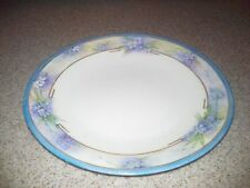 T & V LIMOGES FORGET ME NOT PLATE, CIRCA 1900, ART DECO GILDING