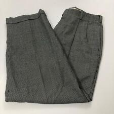 Austin Reed Men's Size 33/29 Black & White Houndstooth Pleated Front Dress Pants