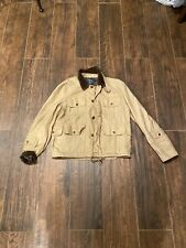 Polo Ralph Lauren Men M Four Pocket Field Safari Jacket Beige Hunting Corduroy