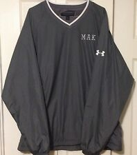 Under Armour V Neck Pullover Wind Mesh Lined Golf MAK Logo