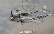 Paul J Sabo P-38 Lightning USAF WWII MC Christmas Ornament Airplane Aircraft P38