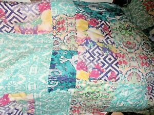POETIC WANDERLUST FLORABELLA TWIN COMFORTER & SHAM tie dye style Tracy Porter