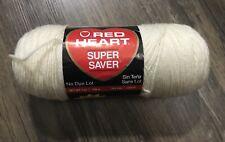 New listing New Red Heart Super Saver Yarn 364 Aran Beige Cream White 0313 Usa 364 Yards