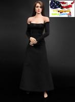 "1//6 See Through Black Dress For 12/"" Hot Toys PHICEN KUMIK Female Figure U.S.A."