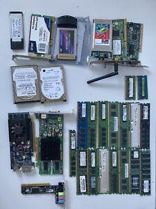 Job Lot Desktop PC Ram, Graphics Cards, Network Cards Hard Drives