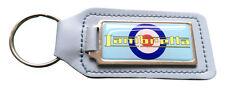 Lambretta Target Quality Sky Blue Leather Keyring