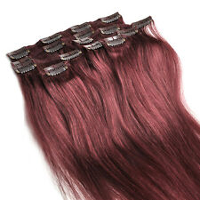 7pcs/Set 15inch 70g full head clip In 100% remy real  human hair extensions