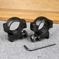 """Low Profile 1"""" 25.4mm Ring Tube Laser Torch Scope Mount for 20mm Picatinny Rail"""